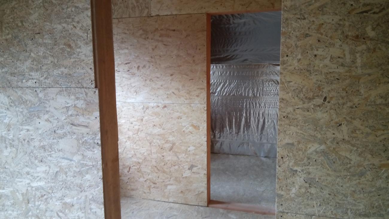 Утепления стен каркасного дома базальтовой ватой бригадой Андрея Панова