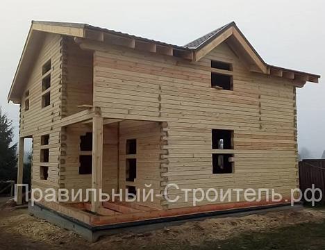 Услуги по строительству домов из профилированного бруса